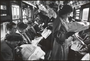 People In A Subway Car In 1947