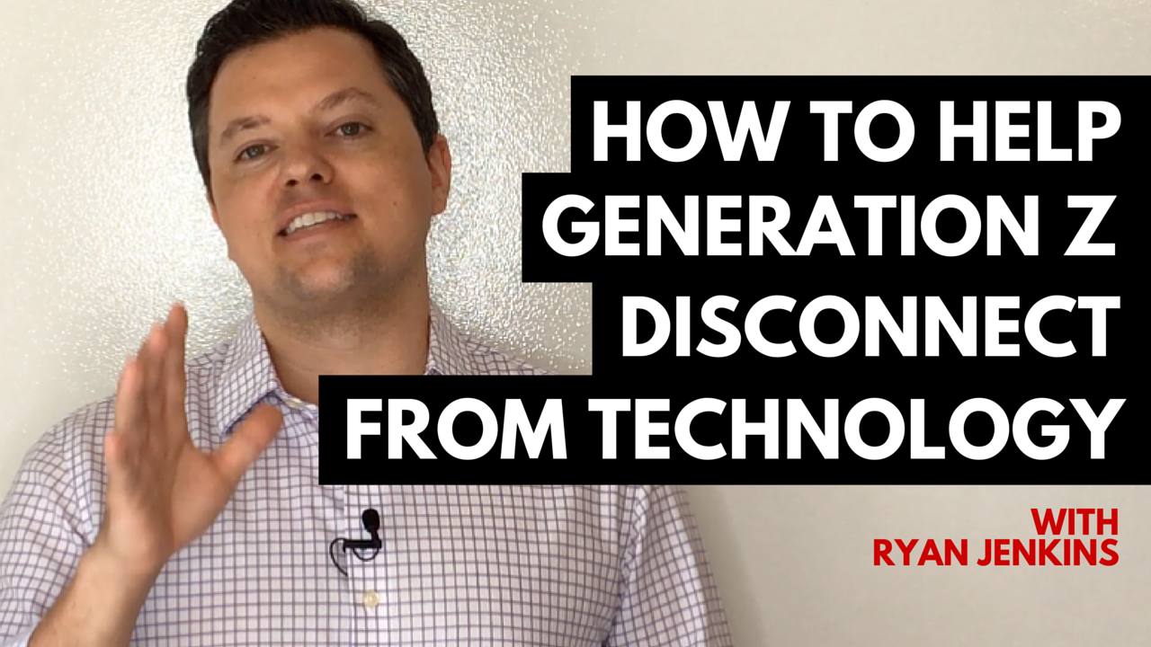 how to help generation z disconnect from technology